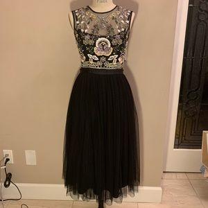 Needle and thread embellished midi dress
